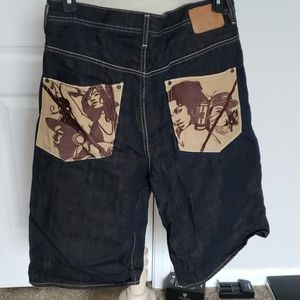 Men's Ecko Unltd Baggy-Fit Jean Shorts:34